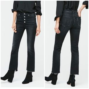 """New J. Crew 9"""" Demi- Boot Crop Jeans in Charcoal"""